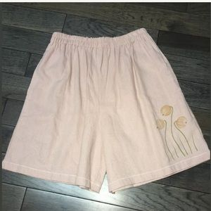 Usindo Pull On Linen Shorts, Blush Floral XS, NWOT